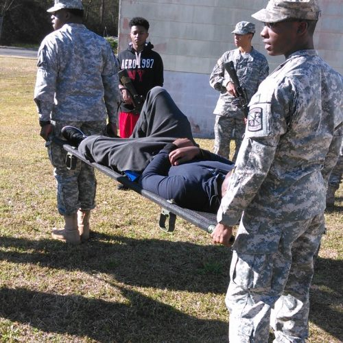 ROTC training exercise.