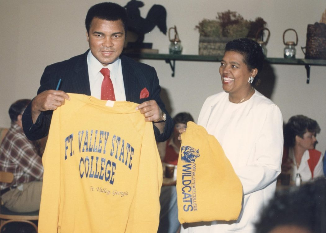 """The Greatest"" Muhammad Ali visits Fort Valley State College, 1989"