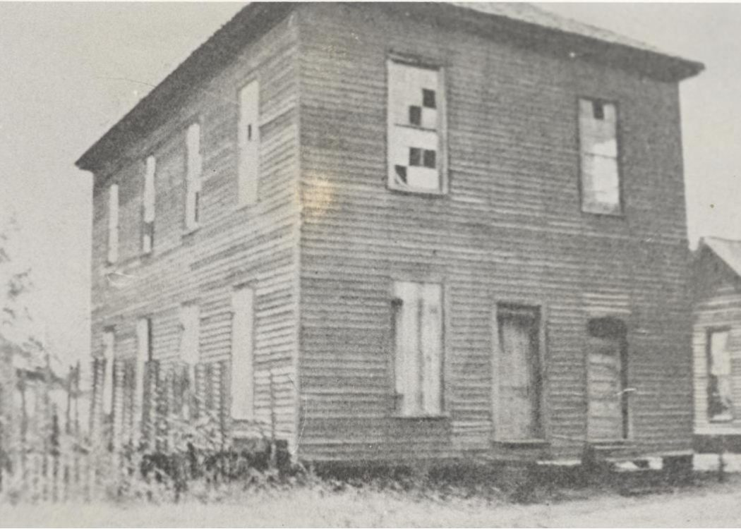 First home of Fort Valley High and Industrial School— Odd Fellows' Hall, Fort Valley, GA.