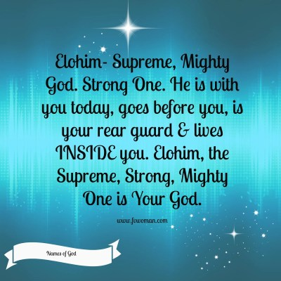 Elohim- The Supreme God