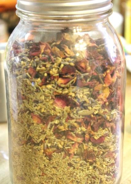 DIY Calming Herbal Bath
