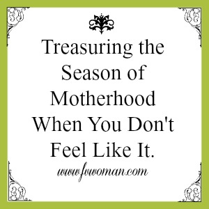 tresure the season of motherhood
