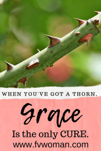 When You've Got a Thorn, Grace is the only cure