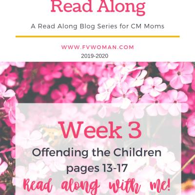 Charlotte Mason Home Education Read-Along Series Week 3