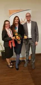 Tanja Rock und Dennis Neßwald gratulieren Maili Wagner