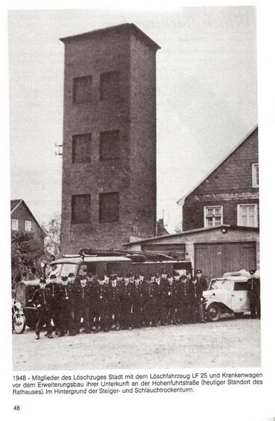 1948 Gruppenfoto des Löschzuges Stadt