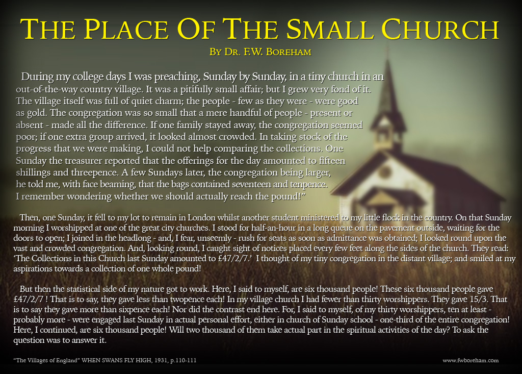 The Place Of The Small Church