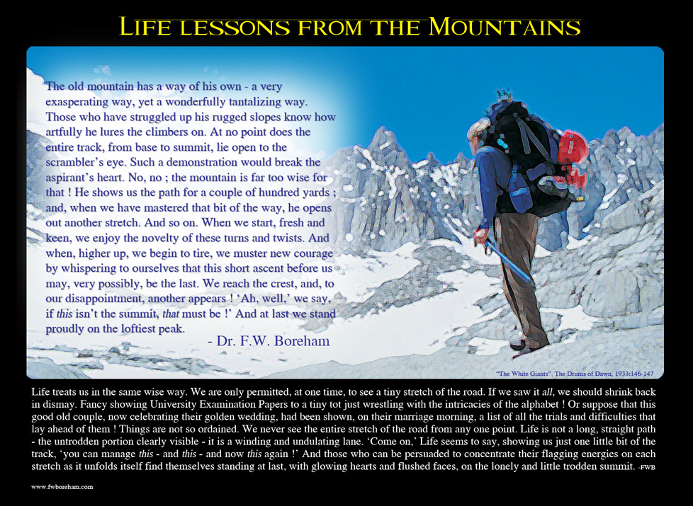 Life lessons from Mountains