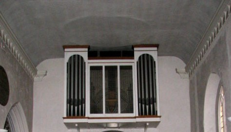 Nave showing flat Georgian ceiling