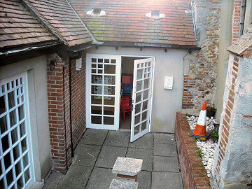 Church hall entrance before