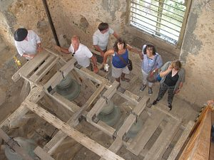 Visitors in the bell chamber on Tower Open Day June 2016