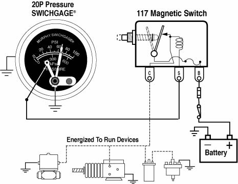 Amp Meter Gauge Wiring Diagram For Boat 20p 25p Series Fw Murphy Production Controls