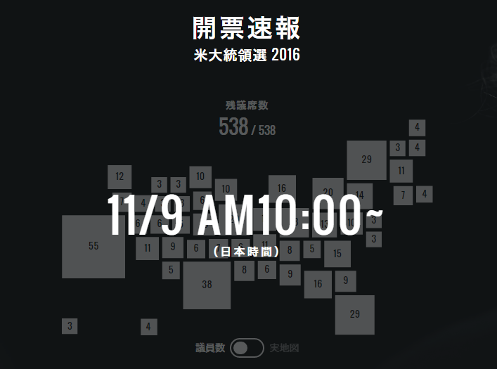 アメリカ大統領選挙の日程(日本時間)
