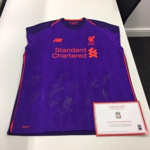 Bid on a signed Liverpool jersey