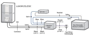 Luxor CUBE and Relay Wiring Diagrams | FX Luminaire