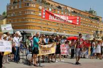 Protest against FX Loans in Novi Sad (Serbia)