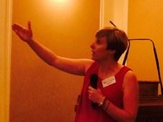 Patricia Suárez - President of Asuapedefin Association