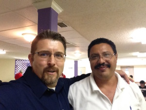 At the event with Nicaraguan Pastors