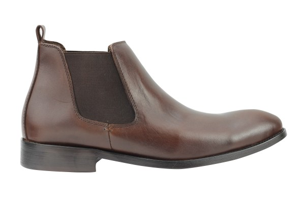 Mens Italian Style Suede Leather Slip Ankle Boots Smart