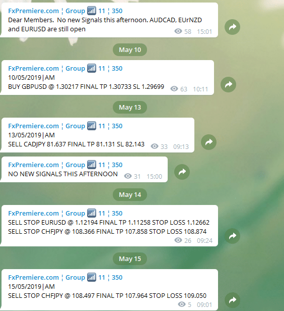 Free Forex Signals Telegram