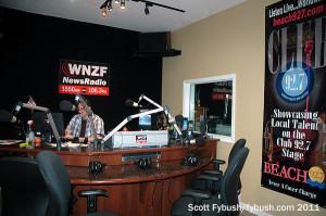 WNZF's studio