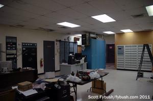 WPOZ's transmitter room