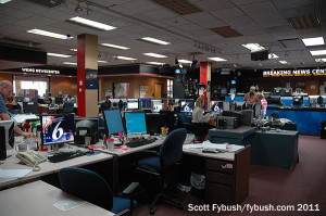 WKMG-TV's newsroom