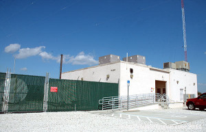 The 540-740 transmitter building
