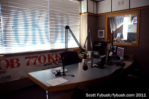 KKOB's main talk studio