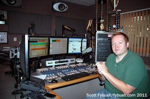 WFLY 92.3's studio