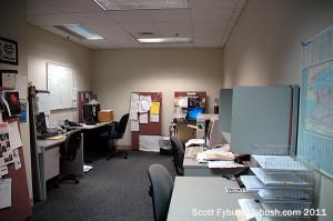 The WIBX newsroom