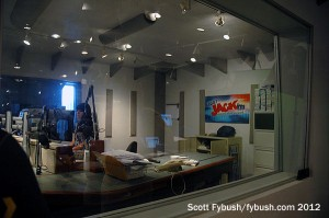 Looking into the KFMB-FM studio