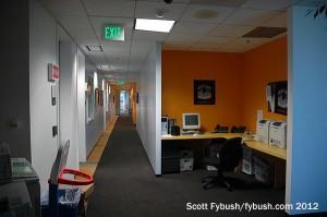 KPWR studio hallway