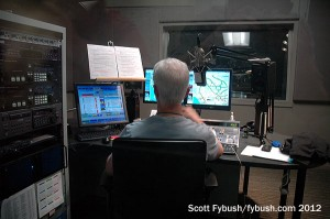 Looking into the KUSC studios