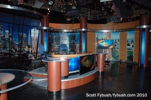 KNBC's set, 2010