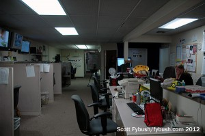 Upstairs in the newsroom