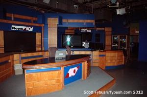 WTHI-TV's set, close up...