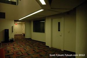 WCPN's downstairs studio hallway