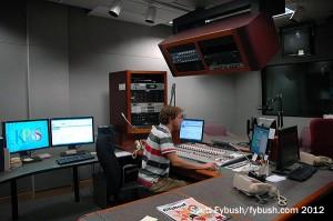 A rebuilt KPBS-FM control room