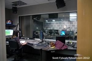 KRLD control room...