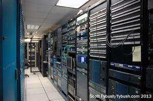 Rack room at WDAY