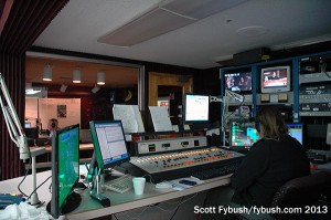 AM studio and control room