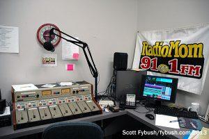 "The ""Radio Mom"" studio"