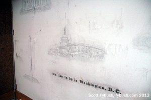 Vintage office mural