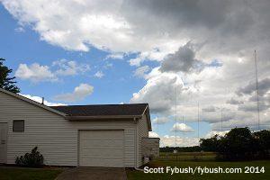 WKNR's new transmitter building