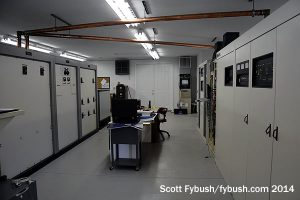 The 850 transmitter room