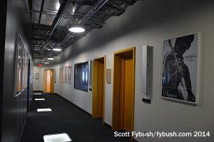 Radio studio hallway