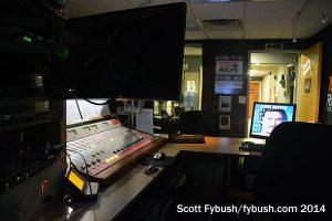 The WMGM-FM studio