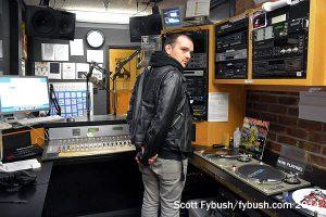 KFJC main studio, from the board side