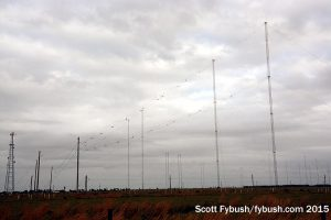 One of WRMI's antennas